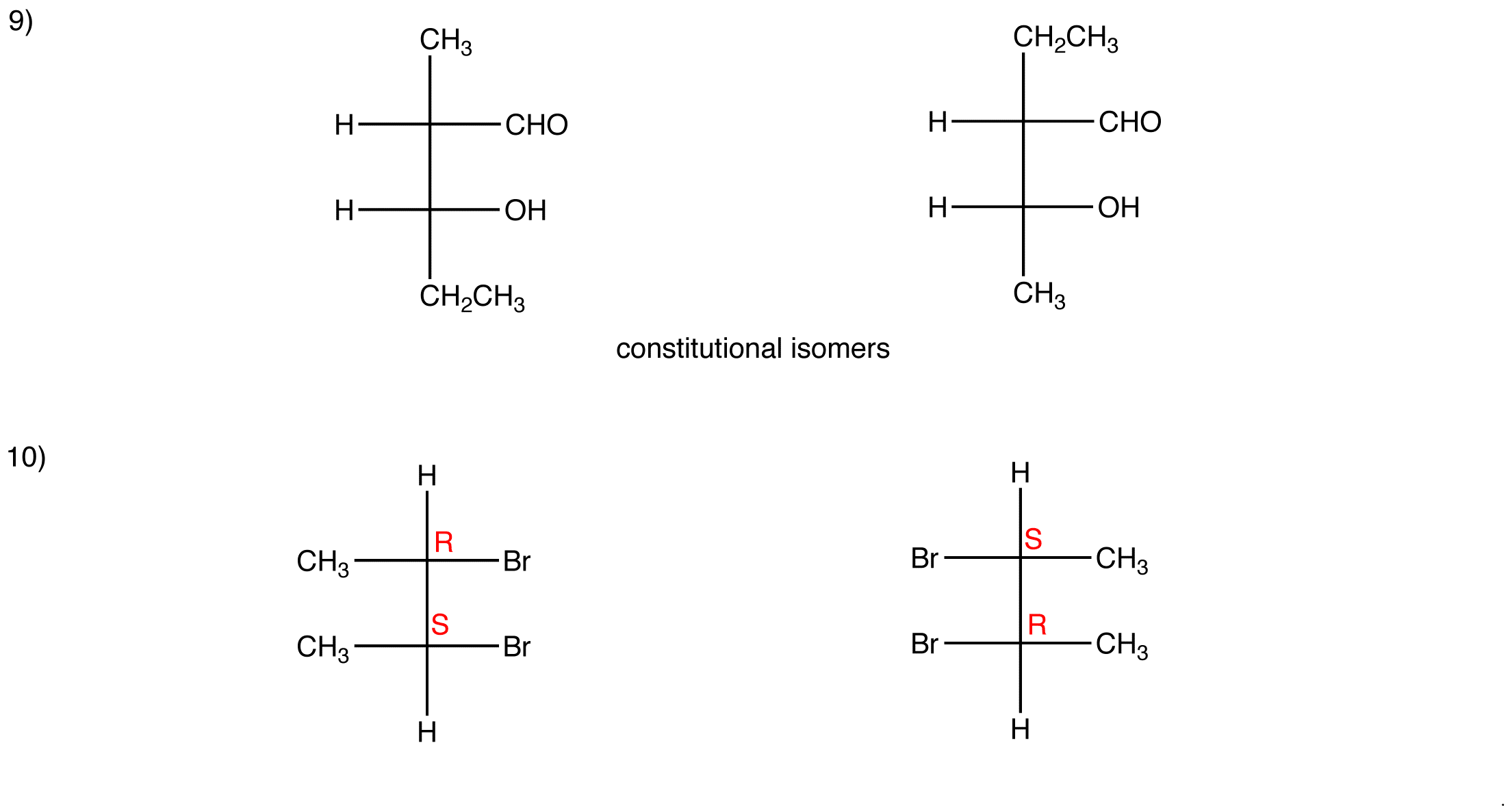 Fischer Projection Answers