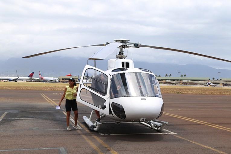 Хеликоптерът на Air Maui, с който летяхме