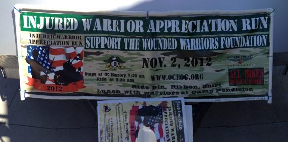 Injured Warrior Appreciation Run Banner
