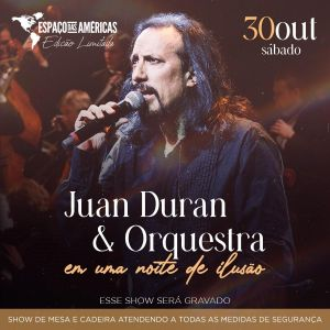 Juan Duran apresenta espetáculo com música e ilusionismo