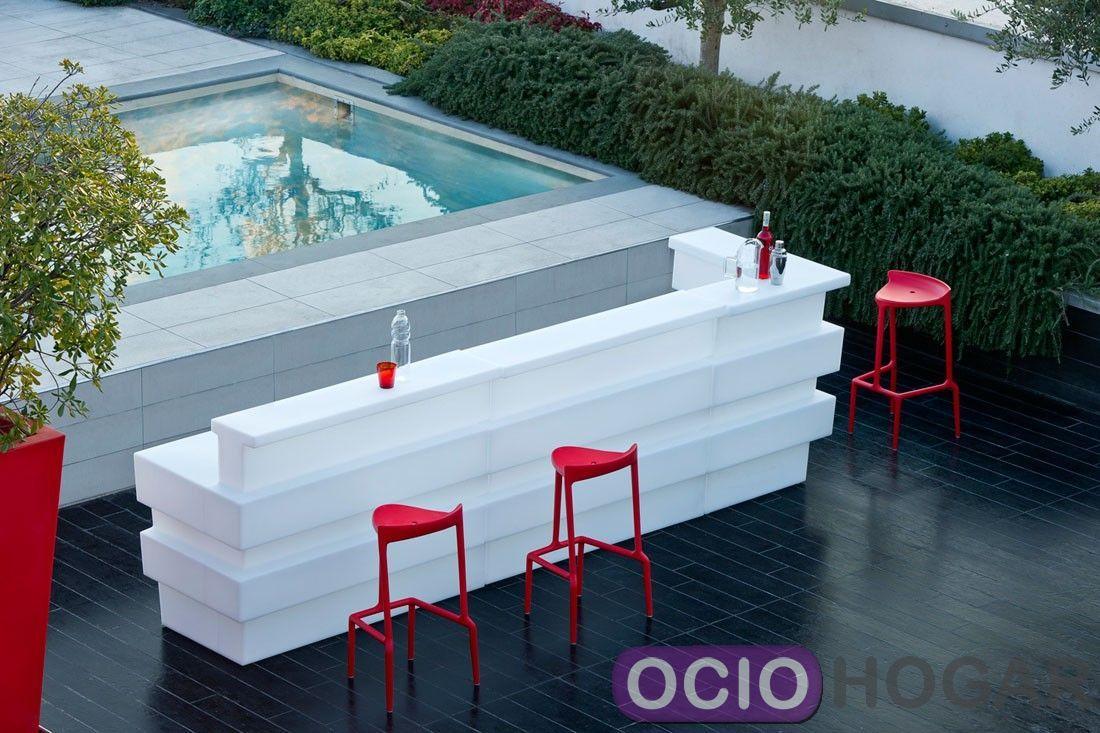 Barra de bar con luz Tetris de Pedrali  Ociohogar