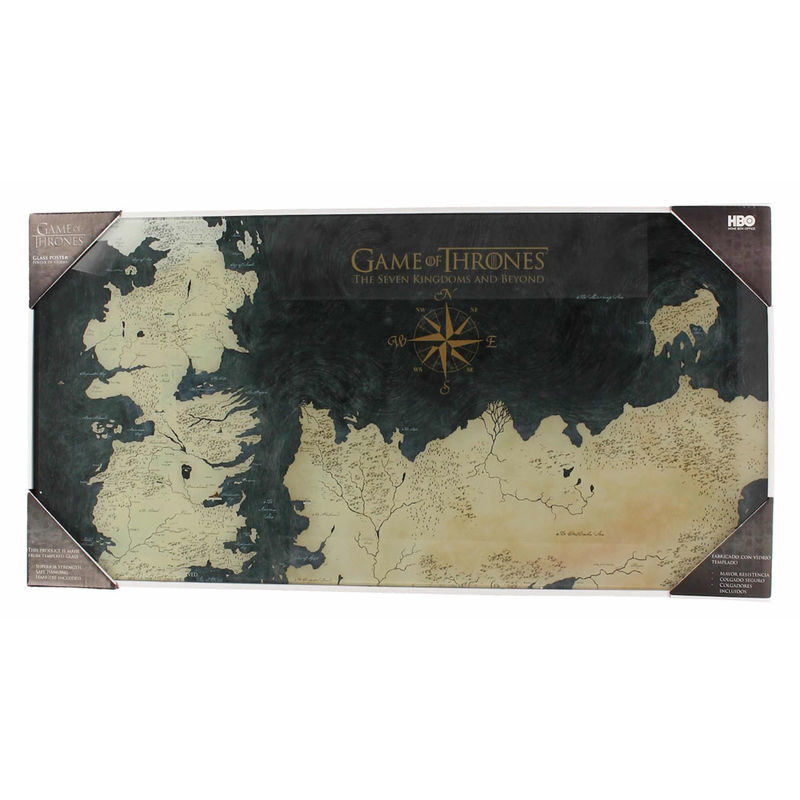game of thrones ponient map poster glass