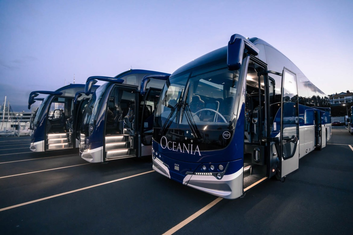 Large NZ Tour Buses