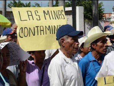 las minas contaminan