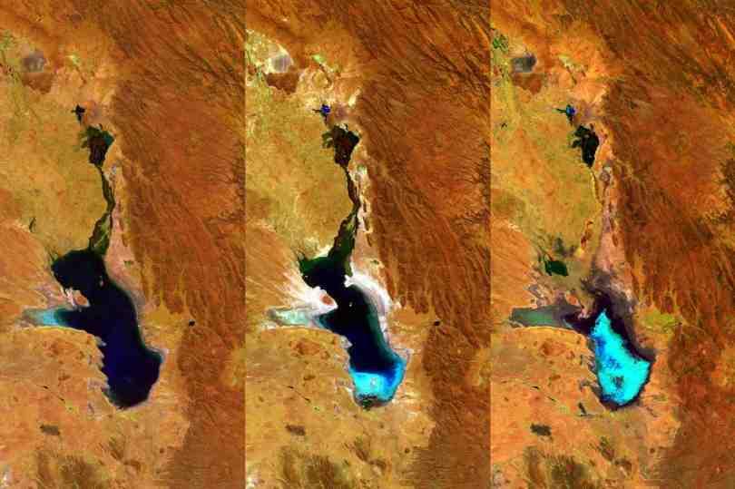 lago poopo satelital