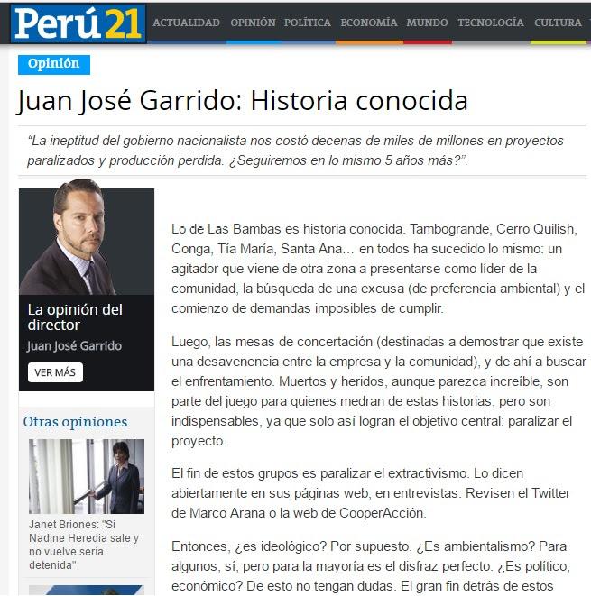 Peru21 editorial