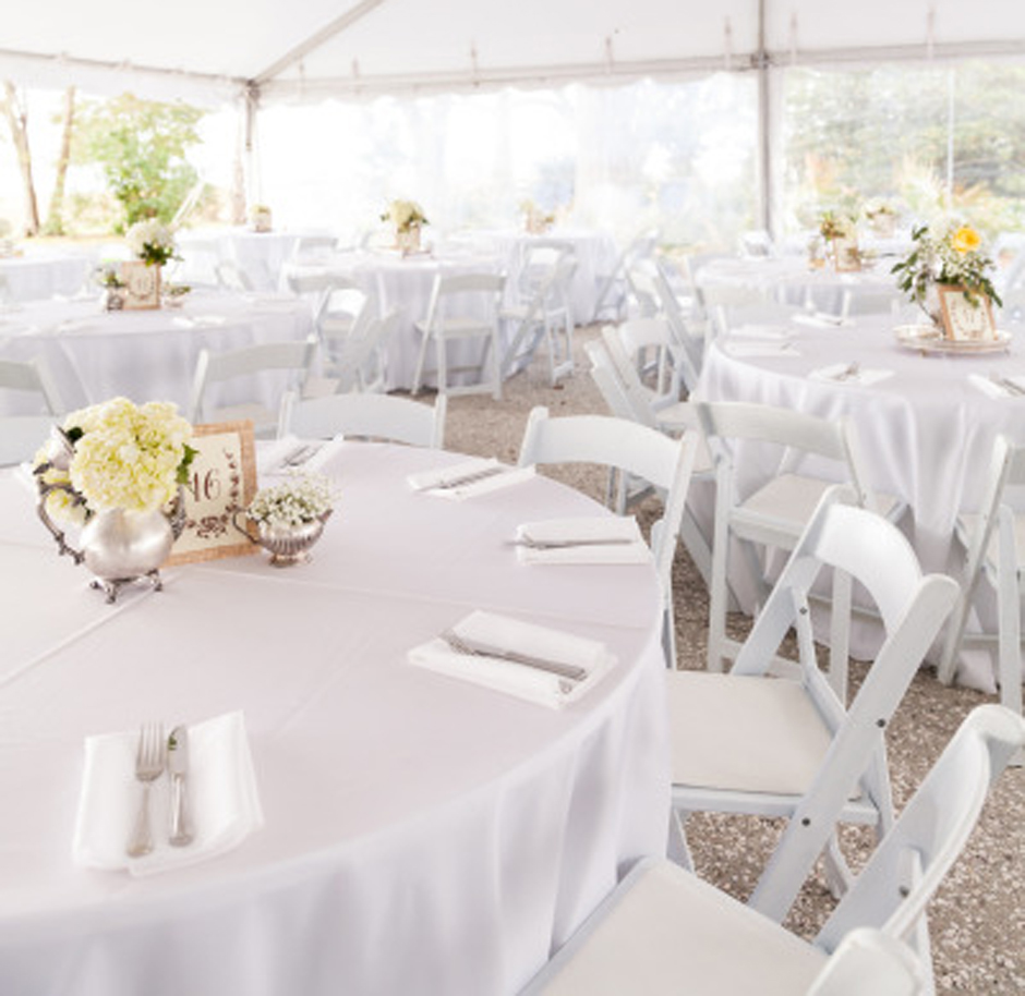 White Folding Chairs  Athens Atlanta  Lake Oconee