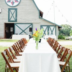 Wedding Tables And Chairs For Rent Knoll Chadwick Chair Review Fruitwood Folding Athens Atlanta Lake Oconee Al Fresco Dining At Reception In Front Of Barn