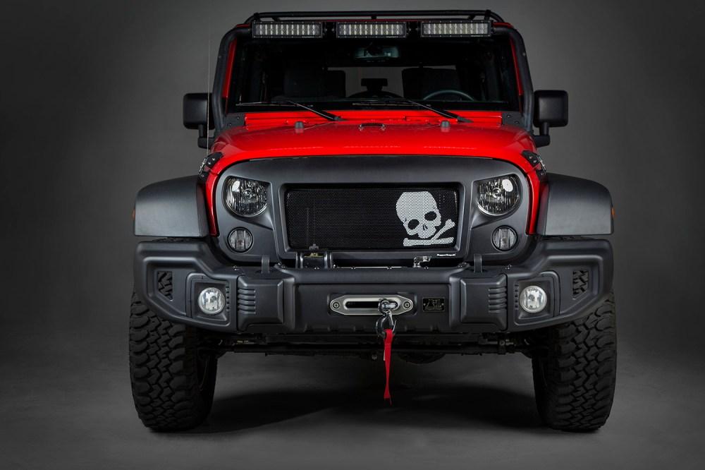 medium resolution of rugged ridge spartan grille insert skull 07 16 jeep wrangler jk x12034 23