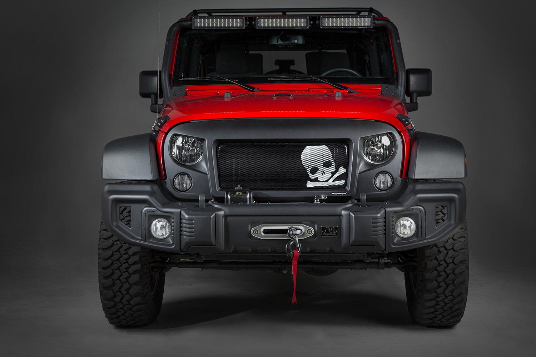 hight resolution of rugged ridge spartan grille insert skull 07 16 jeep wrangler jk x12034 23