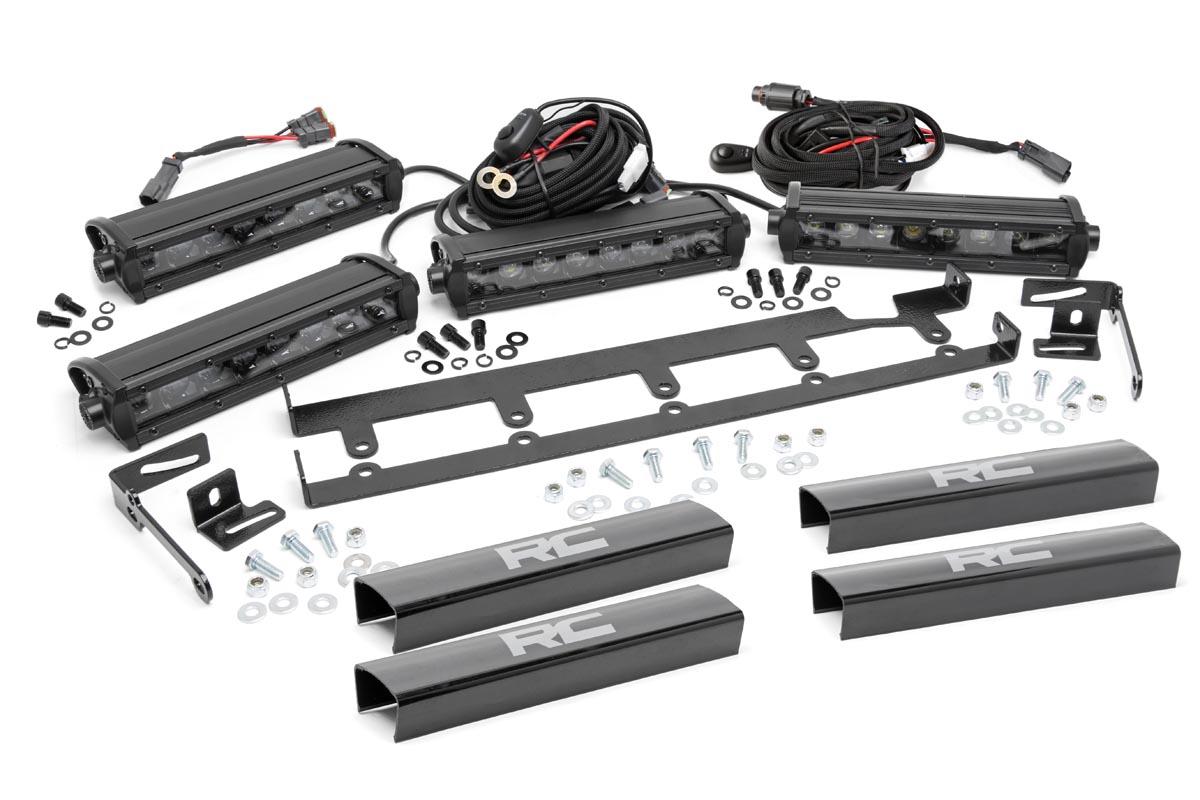 8 Inch Vertical Led Light Bar Grille Kit 4 Lights Fits