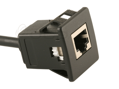 CAT 5e, Panel Mount, Snap In