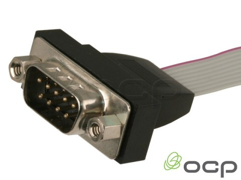 55-00107 - Panel Mount DB9 Male Serial Port with Bracket