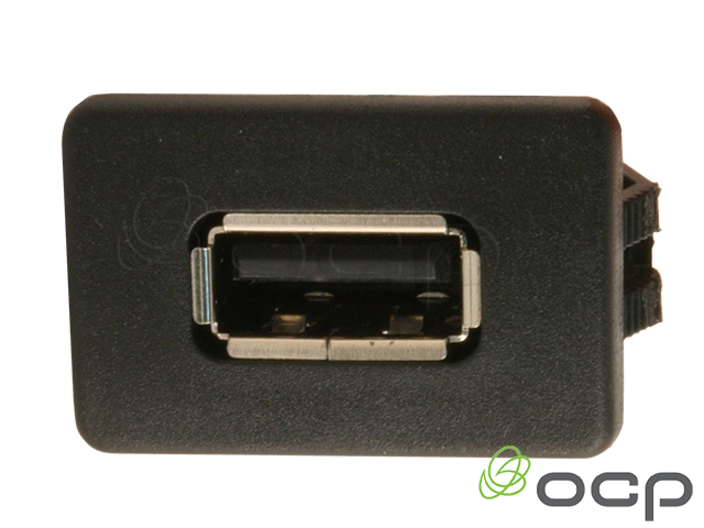 """USB 2.0 """"Snap in"""" A Female to A Male Panel Mount Cable"""