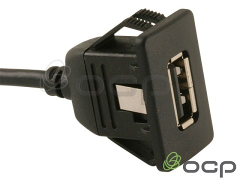 62-00203 - USB A Female to A Male Panel Mount Cable