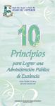 Portada Diez Principios para lograr una Administración Pública de Excelencia (Tríptico)
