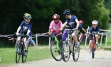 Cycling during the South West Youth Games at Simmons Park, Okehampton, Devon on 9 July. - PHOTO: Sean Hernon/PPAUK