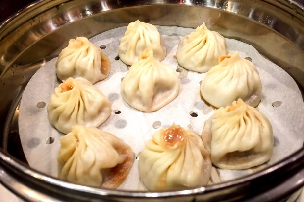 The namesake xiao long bao at Super Juicy Dumplings in Brea. (Photo by Brad A. Johnson, Orange County Register/SCNG)
