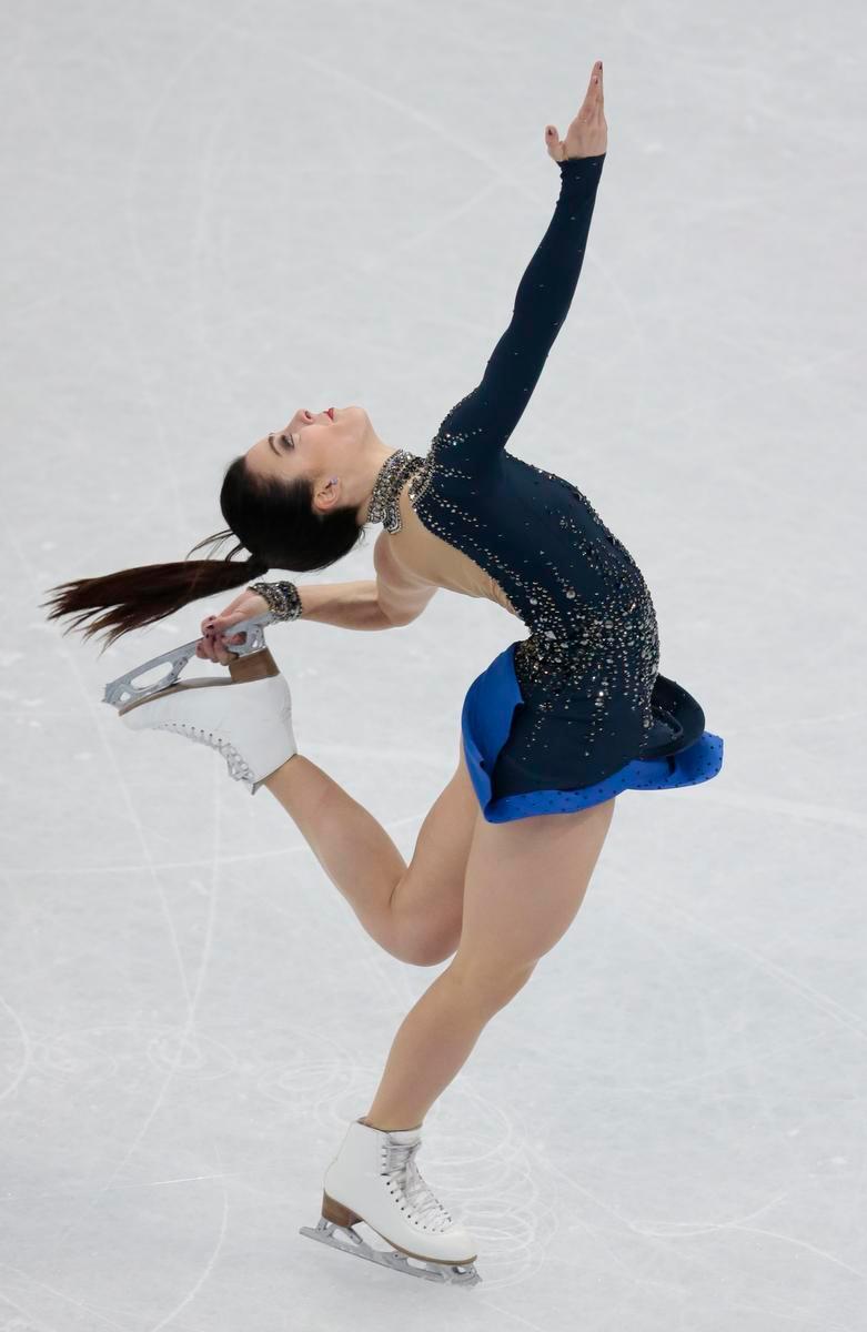 Evgenia Medvedeva leads figure skating worlds after short program Americans Karen Chen fifth Ashley Wagner seventh  Orange County Register