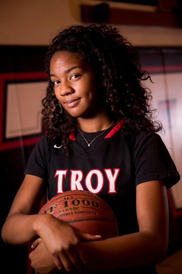 Troy's Kianna Smith is the Register's girls basketball player of the year. (Photo by Paul Rodriguez, Orange County Register/SCNG)