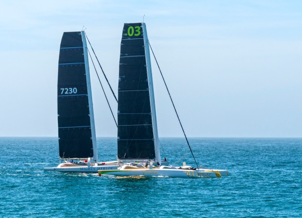 Merloe and Phaedo crews (above) reached Mexican shores in under six hours. Congratulations went to Roy P. Disney and the crew of Pyewacket for their win at N2E 70.