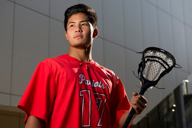 Justin Cheng of Beckman High, All-County boys lacrosse team ///ADDITIONAL INFORMATION: hsblax.team.0528 Ð 5/23/16 Ð LEONARD ORTIZ, ORANGE COUNTY REGISTER - _DSC3137.NEF - Corona del Mar High School 2016 boys lacrosse All-County team.
