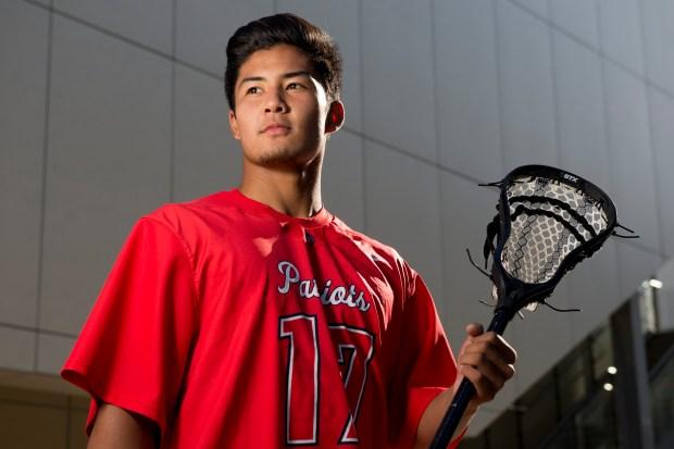Justin Cheng of Beckman High, All-County boys lacrosse team ///ADDITIONAL INFORMATION: hsblax.team.0528 Ð 5/23/16 Ð LEONARD ORTIZ, ORANGE COUNTY REGISTER - _DSC3137.NEF - Corona del Mar High School 2016 boys lacrosse All-County team.
