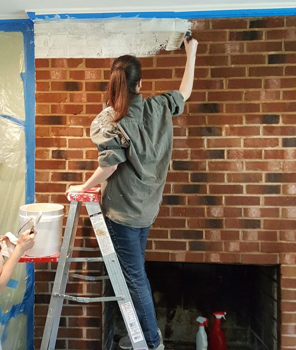 Whitewashing brick fireplace is a DIY success  Orange County Register