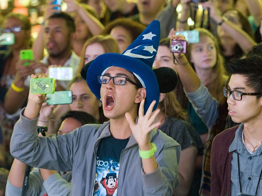 More than 65,000 Disney fans are expected to attend the D23 Expo at the Anaheim Convention Center. Photo by MINDY SCHAUER, ORANGE COUNTY REGISTER