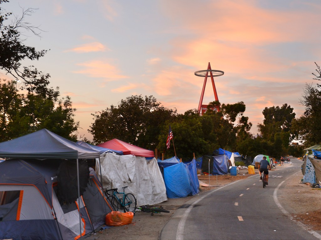 Who are the homeless living in the shadow of the Big A