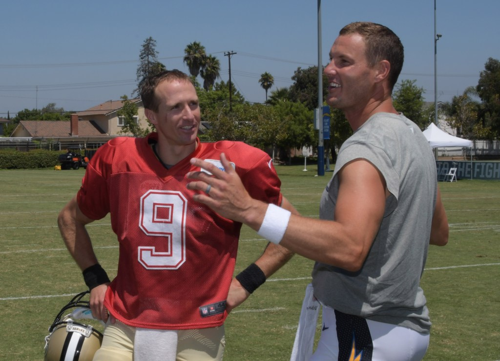 Philip Rivers Drew Brees reunite in ChargersSaints joint
