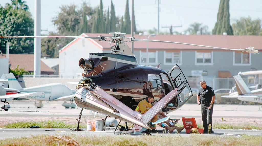 Helicopter has hard landing at Fullerton Airport