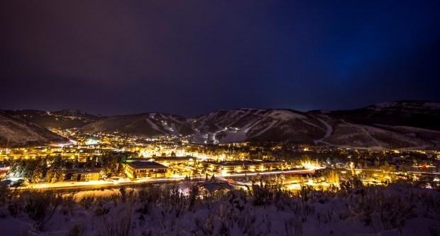 Park City at night
