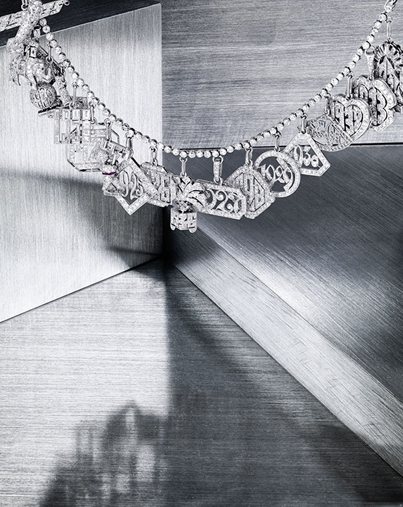 An Art Deco diamond charm bracelet formerly owned by a Hollywood actress, circa 1925, is one of the most interesting pieces available at Bonhams New York's upcoming April 17 sale.