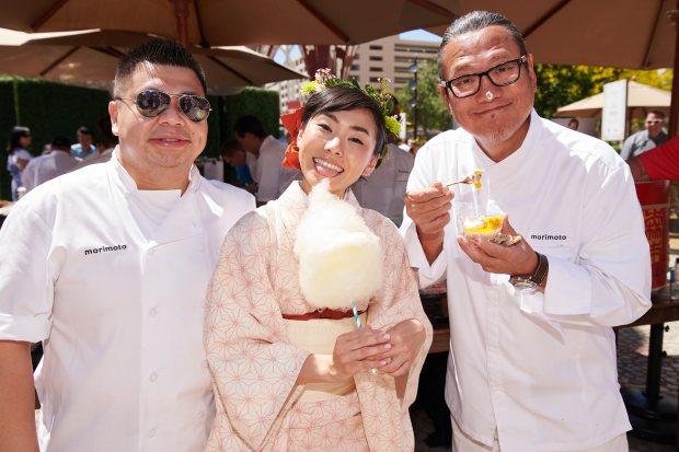 Chef Masaharu Morimoto enjoyed tasty treats at Picnic at The Park during Vegas Uncork'd.