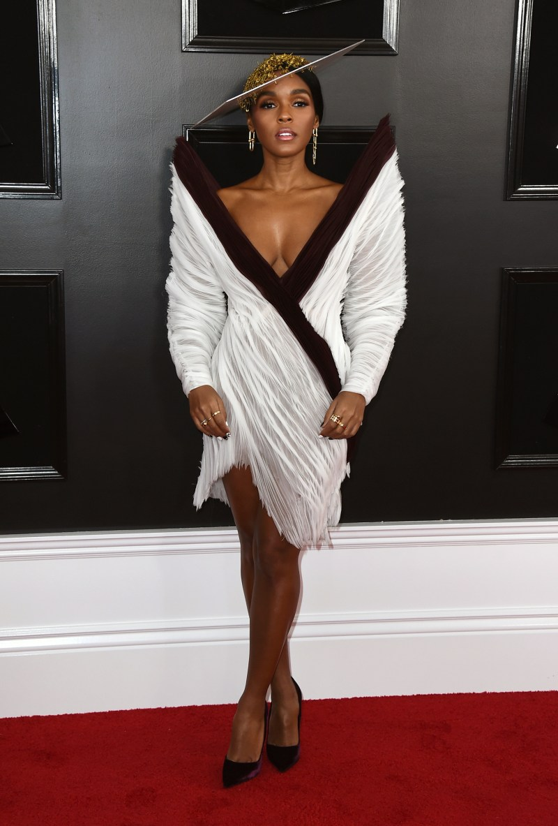 557a0b870ae Janelle Monae arrives at the 61st annual Grammy Awards at the Staples Center  on Sunday