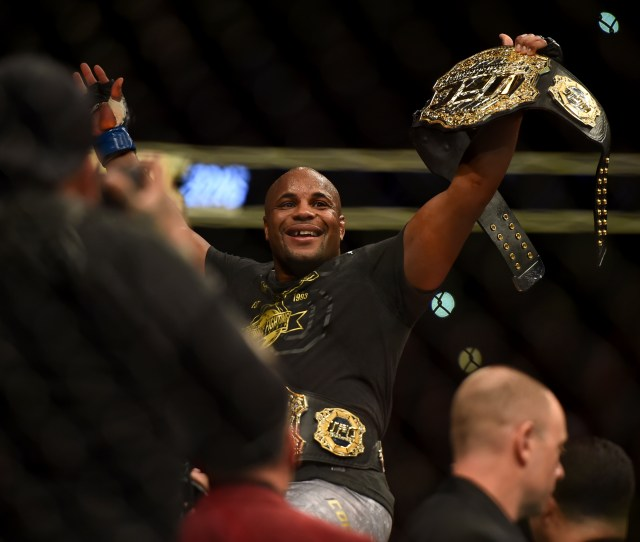Light Heavyweight Champion Daniel Cormier Blue Defeats Stipe Miocic Red Via Ko To Become The New Heavyweight Champion During Ufc 226 At The T Mobile