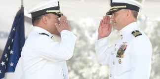 New commander takes charge of Seal Beach Naval Weapons Station in traditional military ceremony