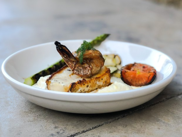 Wood-roasted Chilean sea bass with shrimp at Terra in Yorba Linda (Photo by Brad A. Johnson, Orange County Register/SCNG)