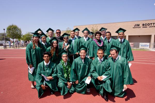 Photos Costa Mesa High School graduation  Orange County Register