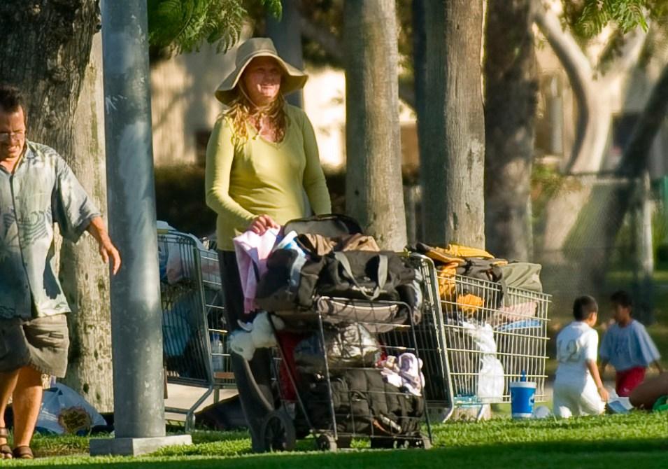 Anaheim homeless staying in park near Disneyland  Orange