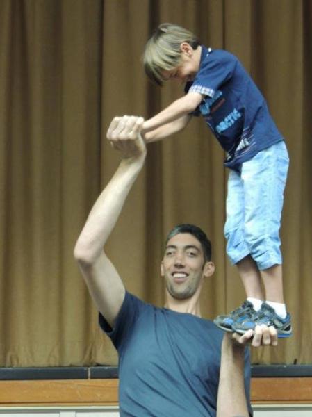 Worlds tallest man visits Irvine  Orange County Register