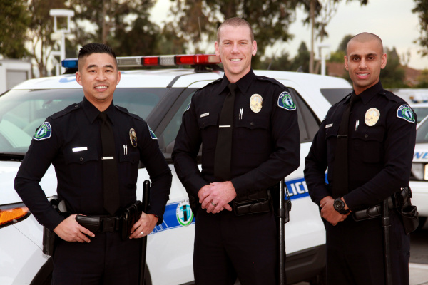 Irvine police swear in three new officers  Orange County