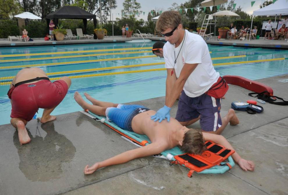 Mock drowning aids water safety effort  Orange County
