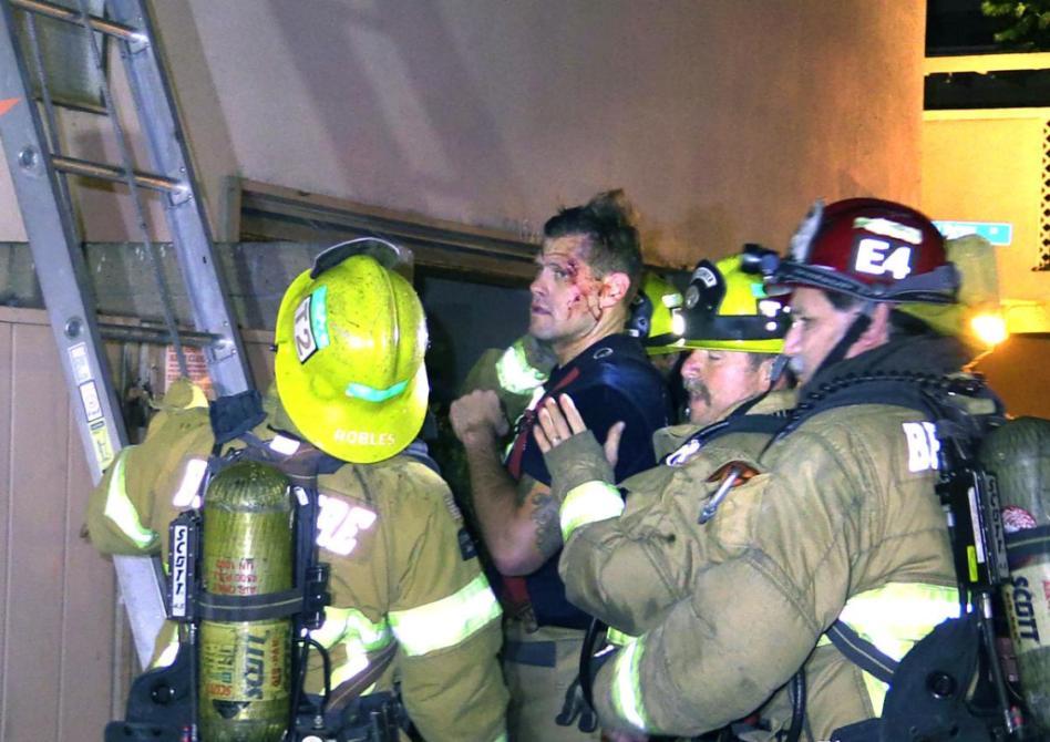 Firefighter injured in Fullerton condo blaze  Orange