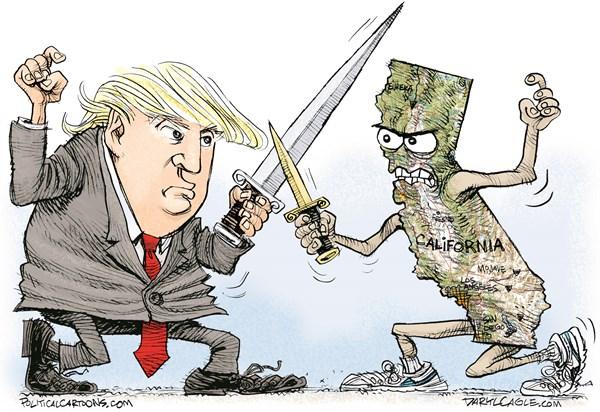 Cartoons Trump V California – Orange County Register