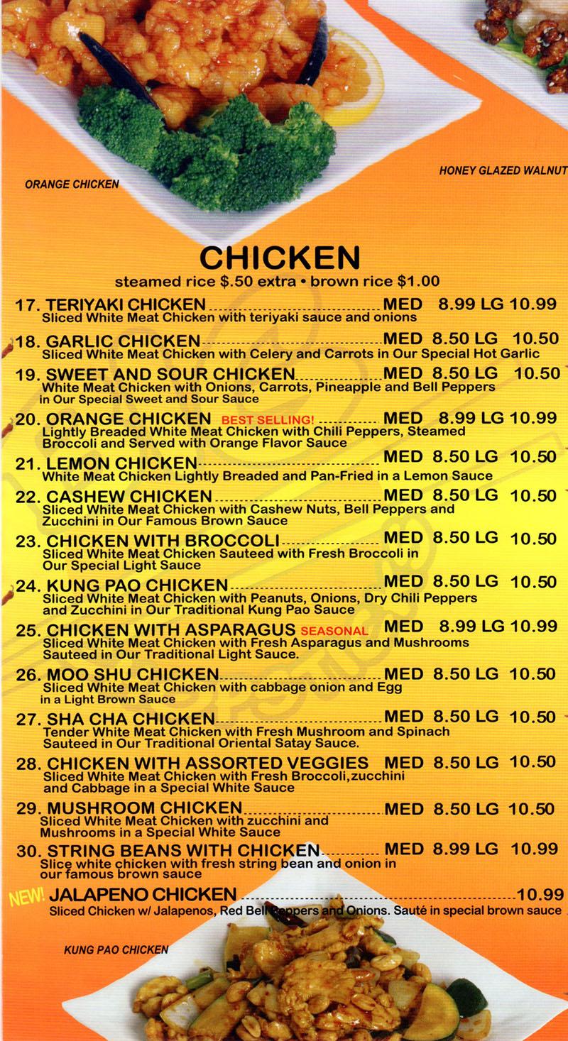 Big Chopsticks Menu  OC Restaurant Guides