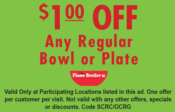 The Flame Broiler  Anaheim Katella  OC Restaurant Guides