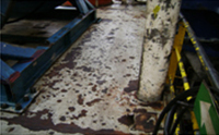 Original condition of deck on DWF drilling module