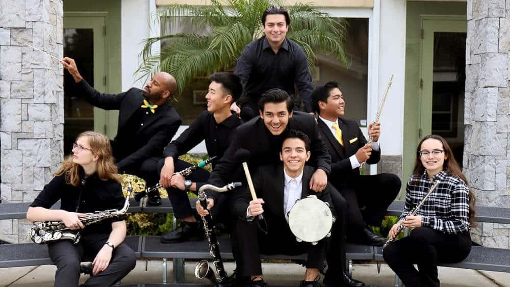 Jazz Band students representing the Performing Arts program at Ontario Christian High School